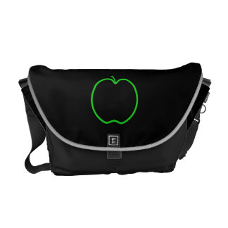 Green Apple Outline. Commuter Bags