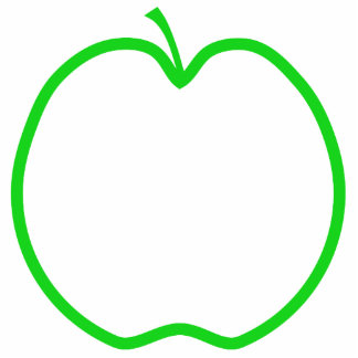 Green Apple Outline. Cut Out