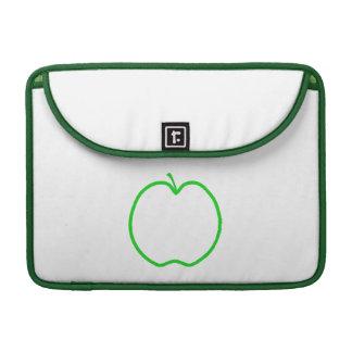 Green Apple Outline. Sleeve For MacBooks