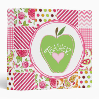 Green Apple / PatchworkTeacher Binder