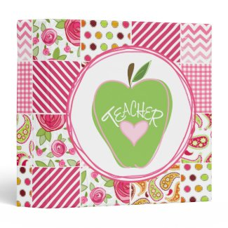 Green Apple / PatchworkTeacher Binder