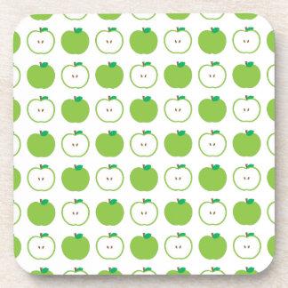 Green Apple Pattern Coaster Set