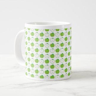 Green Apple Pattern Jumbo Mug