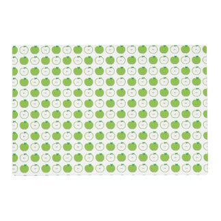 Green Apple Pattern Laminated Placemat