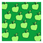 Green Apple Pattern. Personalized Invite