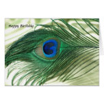 Green Apple Peacock Sill Life Cards
