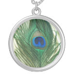Green Apple Peacock Sill Life Pendant