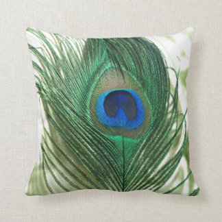 Green Apple Peacock Sill Life Pillows