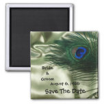 Green Apple Peacock Sill Life Save the Date Refrigerator Magnets