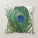 Green Apple Peacock Sill Life Throw Pillow