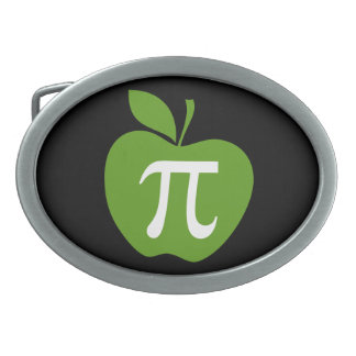 Green Apple Pi Belt Buckle