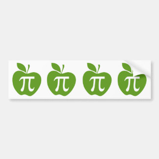 Green Apple Pi Bumper Sticker