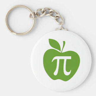 Green Apple Pi Keychain