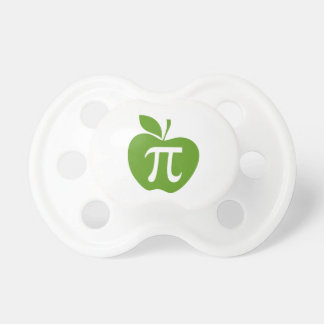 Green Apple Pi Pacifiers