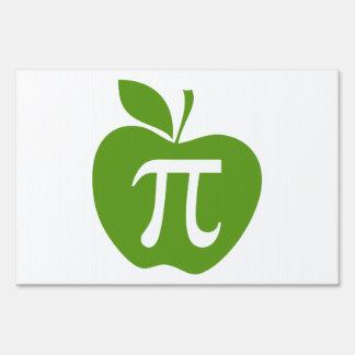 Green Apple Pi Lawn Sign