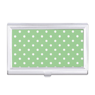 Green Apple Polka Dot Business Card Holder