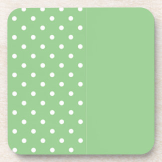Green Apple Polka Dot Coaster Template