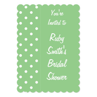 Green Apple Polka Dot Invitation Template
