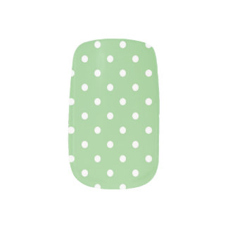Green Apple Polka Dot Minx Minx Nail Wraps