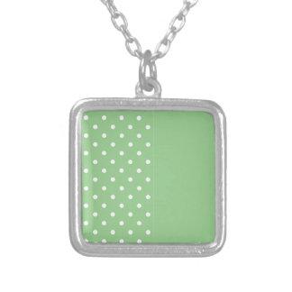 Green Apple Polka Dot Necklace Template Custom Jewelry