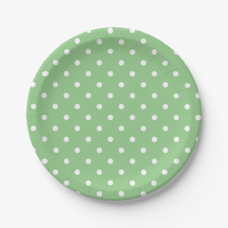 Green Apple Polka Dot Paper Plates