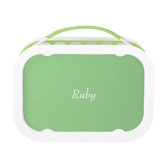 Green Apple Polka Dot Personalized lunch box Yubo Lunchbox