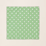 """Green Apple Polka Dot Scarf<br><div class=""""desc"""">A lovely green hue that reminds one of green apples.   Some of the products also incorporate matching green apple and white polka dots.   They are a blank canvas ready for your text or image.</div>"""