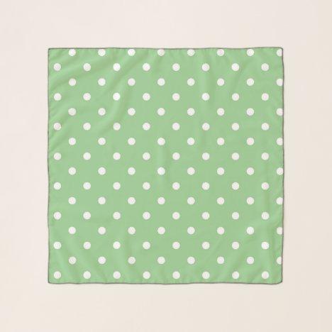 Green Apple Polka Dot Scarf