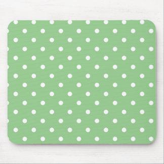 Green Apple Polka Dots Mousepad