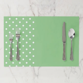 Green Apple Polka Dots Paper Placemat