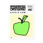 Green Apple. Postage Stamp