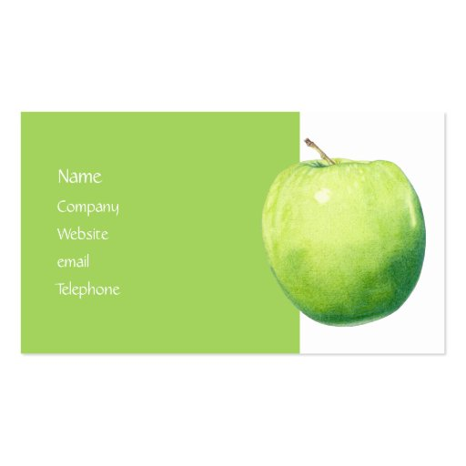 Green Apple Profile Card Double Sided Standard Business