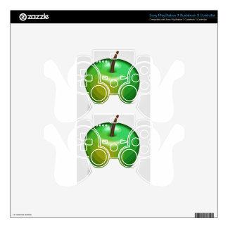 Green apple PS3 controller skin