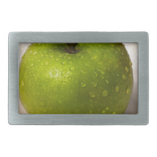 Green apple rectangular belt buckle