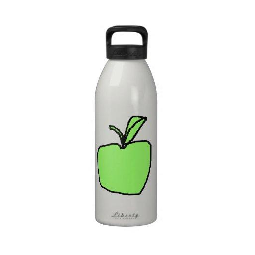 Green Apple. Reusable Water Bottles