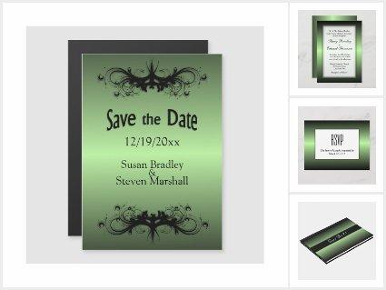 Green Apple Shine Wedding Invitation Suite
