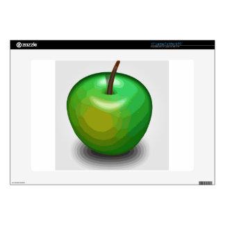 Green apple skin for laptop