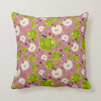 Green Apple Slices Pattern Pillows