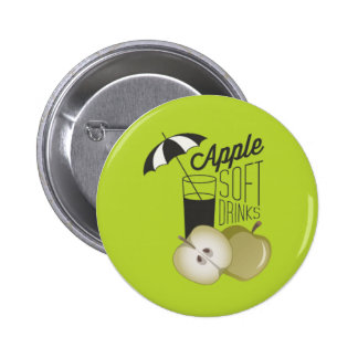 Green Apple Soft Drinks Button Badge