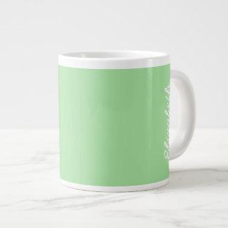 Green Apple Solid Color Large Coffee Mug