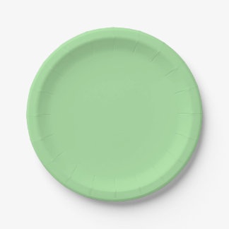 Green Apple Solid Color Paper Plate