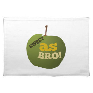 Green apple SWEET AS BRO Cloth Placemat