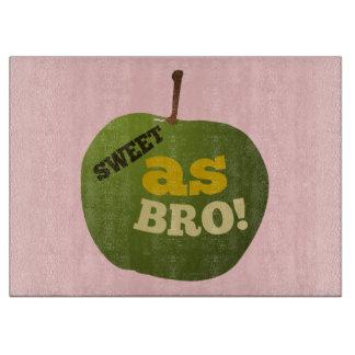 Green apple SWEET AS BRO Cutting Board