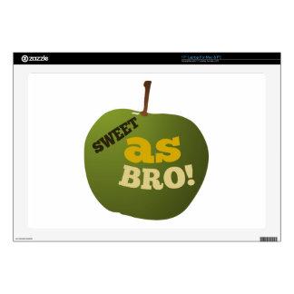 Green apple SWEET AS BRO Laptop Skin