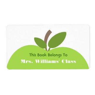 Green Apple Teacher Bookplate For Classroom