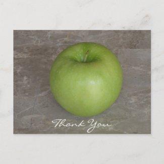 Green Apple Thank You Postcard postcard
