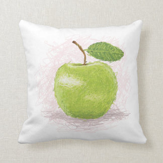 green apple throw pillow