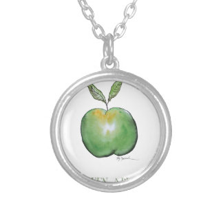 green apple, tony fernandes personalized necklace