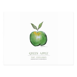 green apple, tony fernandes postcard
