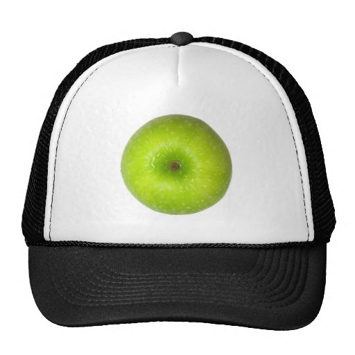 Green apple top view trucker hat